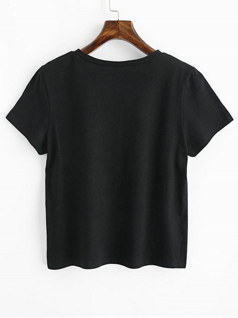 buy Earth Day Slogan Short Sleeves Tee - BLACK S Mobile