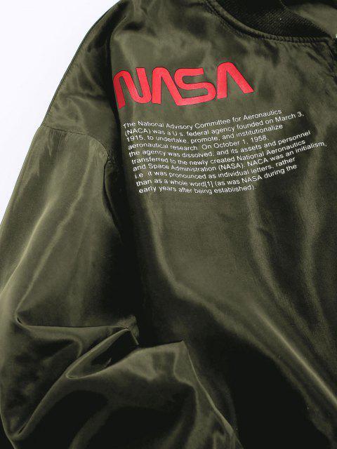 ZAFUL Veste Lettre Graphique Brodée Drapeau Américain avec Poche - Vert Armée  S Mobile