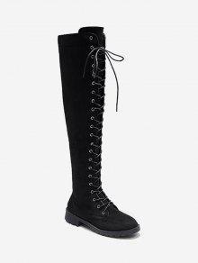 حتى الرباط الصلبة على الأحذية في الركبة - أسود الاتحاد الأوروبي 39