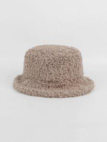 Plush Warm Solid Bucket Hat