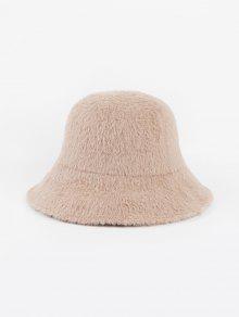 الشتاء الصلبة فو الفراء قبعة دلو - اللون البيج