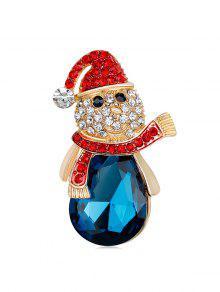 عيد الميلاد ثلج حجر الراين بروش - ذهب