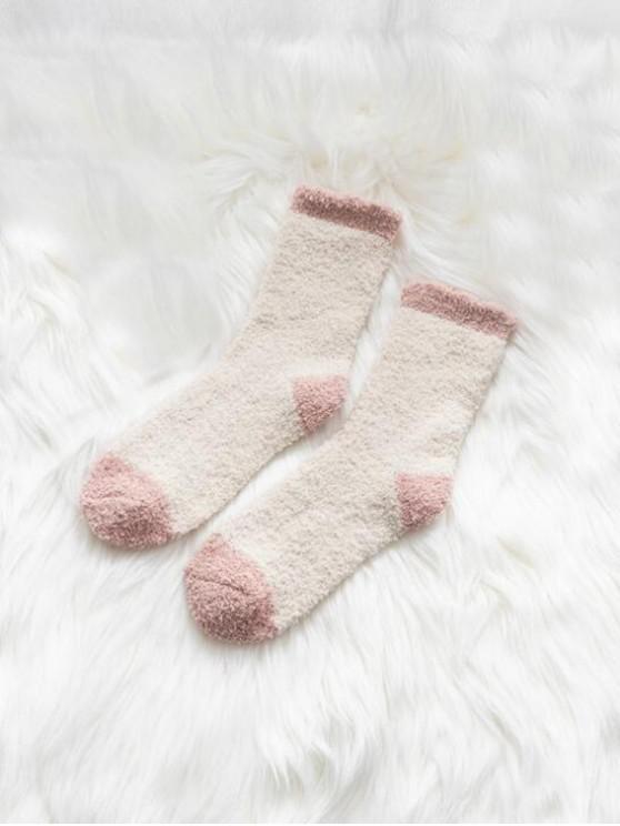 unique Winter Fleece Home Floor Socks - WHITE