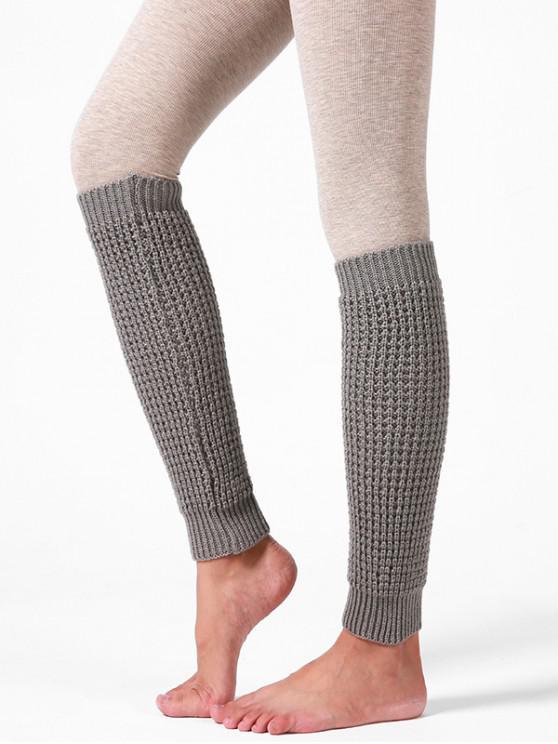A maglia filati di lana Calzini manica - Grigio