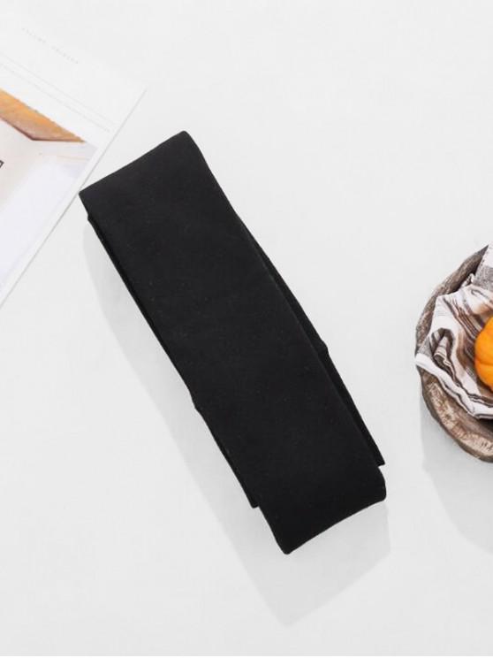 En el interior de vellón de cintura alta de algodón Panti - Negro