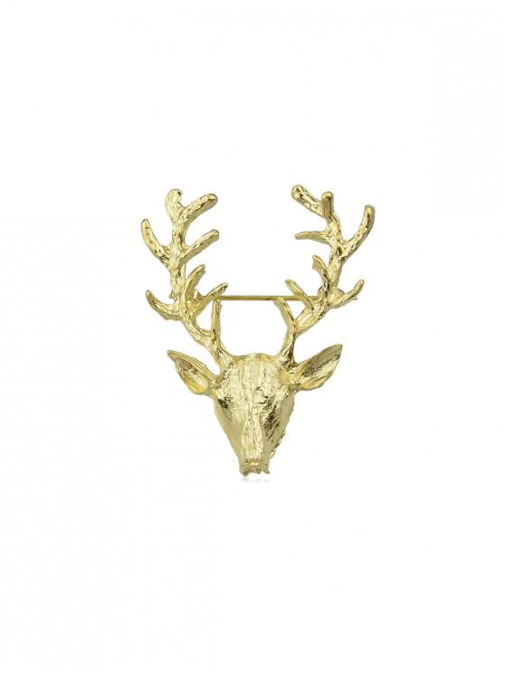 Metallo Deer Horn Spilla - Oro