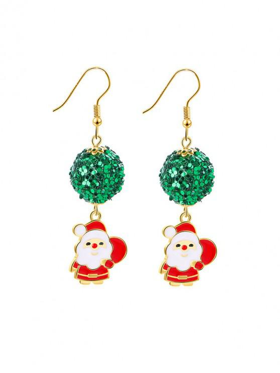 best Christmas Santa Claus Sequin Earrings - RED