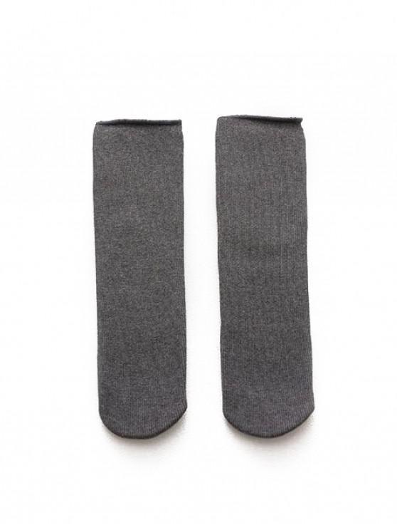 Calcetines del tubo de invierno Berber Fleece - Gris Oscuro