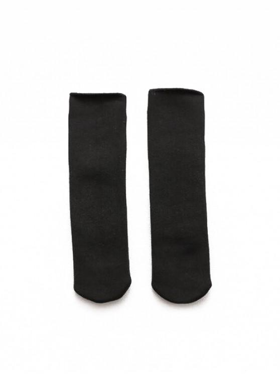 trendy Winter Berber Fleece Tube Socks - BLACK