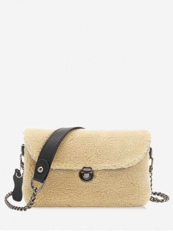 affordable Winter Cashmere Small Shoulder Bag - KHAKI