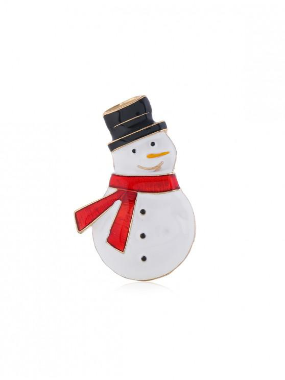 chic Christmas Snowman Glazed Brooch - GOLD