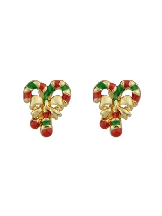 new Christmas Bowknot Stick Stud Earrings - GOLD