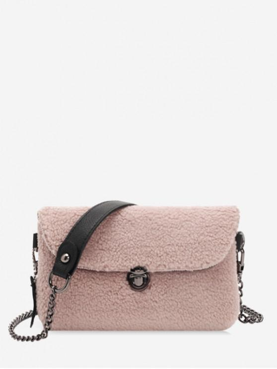 ladies Winter Cashmere Small Shoulder Bag - LIGHT PINK