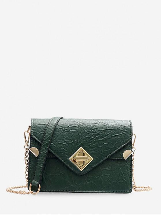 new Small Hasp Square Shoulder Bag - DARK GREEN