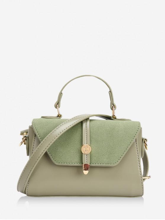 chic Small Cover Leather Shoulder Bag - DARK SEA GREEN