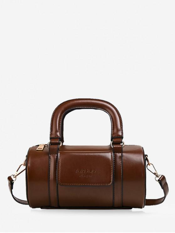 women Solid Business Boston Bag - DEEP BROWN