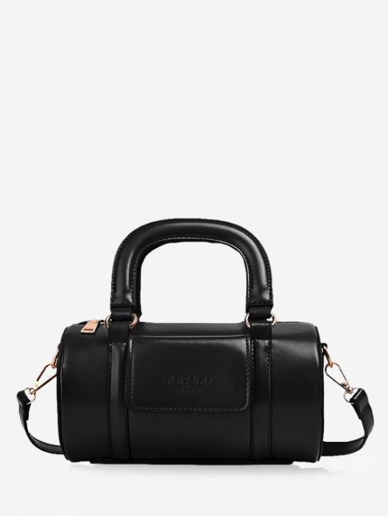 ladies Solid Business Boston Bag - BLACK