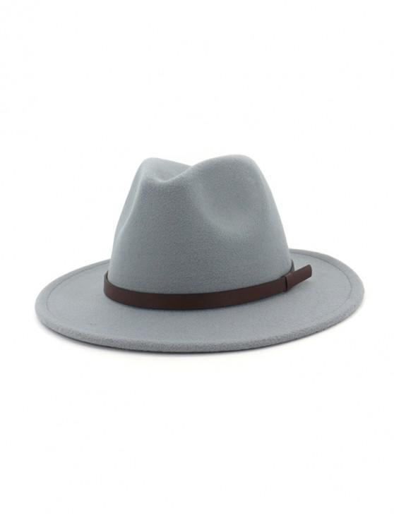 Cinturón de lana sólida Jazz Sombrero - Gris Claro