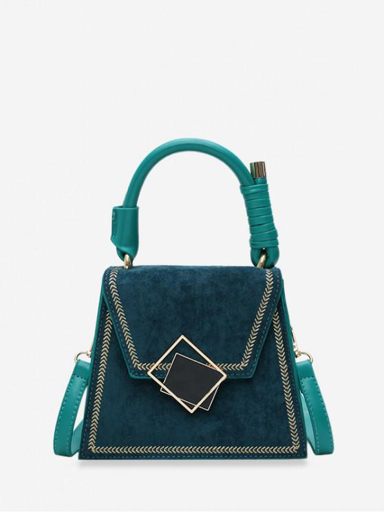 outfits Stylish Buckle Irregular Shoulder Bag - MEDIUM SEA GREEN