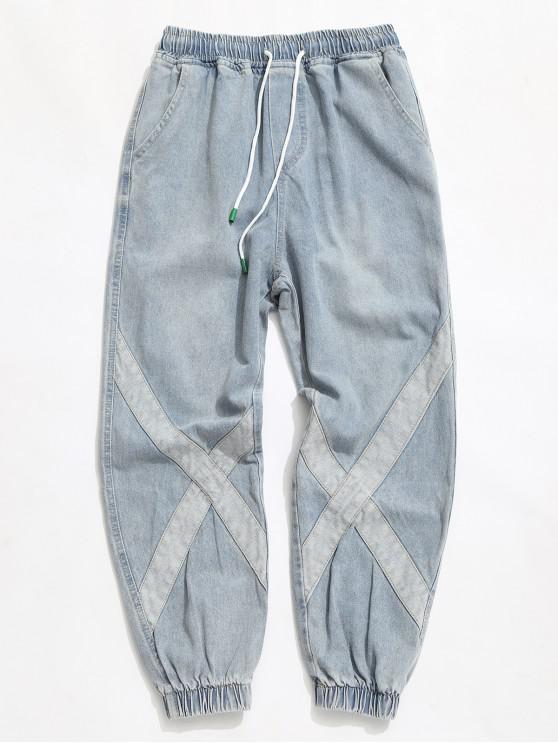 Lamentando la Cruz de empalme del lazo del basculador de los pantalones vaqueros - Azul de Koi S