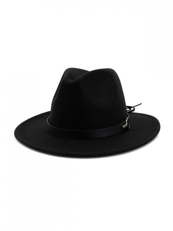 Chapeau Fedoras de Jazz en Laine - Noir