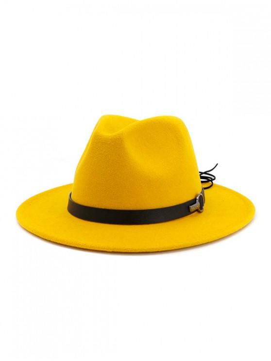hot Woolen Jazz Fedoras - YELLOW