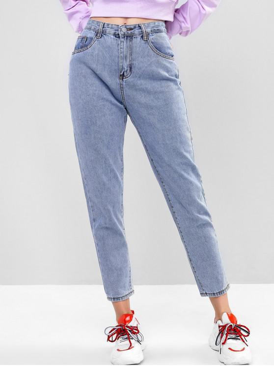 outfit Basic Boyfriend Jeans - DENIM BLUE XS