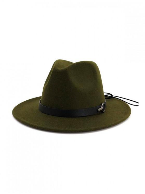 ทำด้วยผ้าขนสัตว์แจ๊สของ Fedora - กองทัพเขียว
