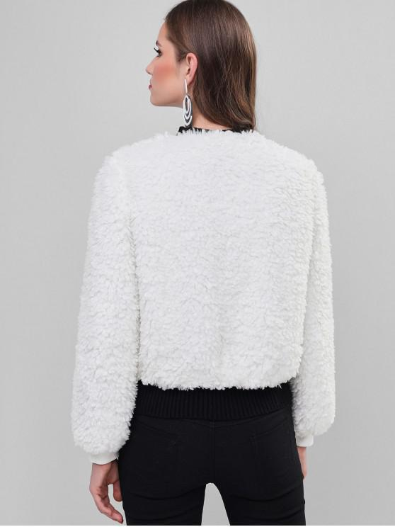 ZAFUL Fluffy Teddy Coat - White Xl