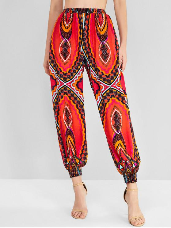 latest Bohemian Printed Jogger Pants - MULTI-A M