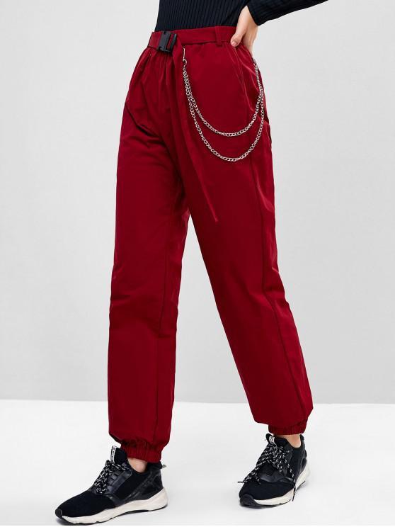 Catena ZAFUL pianoro impreziosito con cintura pantaloni Jogger - Vino Rosso S