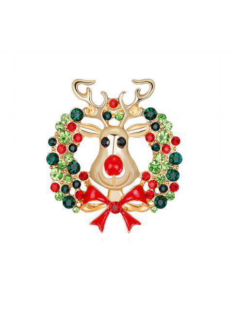 Broche Cerf de Noël et Guirlande - Or  Mobile