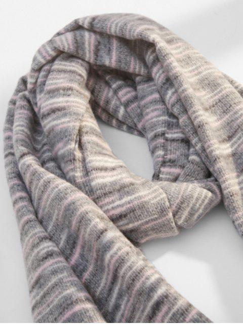 shop Winter Faux Woolen Thick Tassel Scarf - GRAY  Mobile
