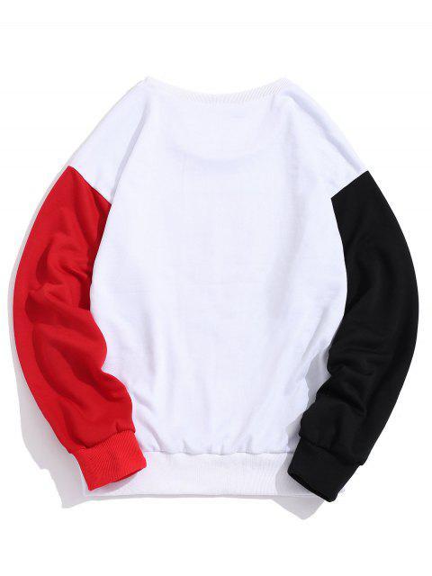 Bloquear ZAFUL Sun de la historieta Montaña del gráfico de color que empalma la camiseta - Rojo Lava M Mobile