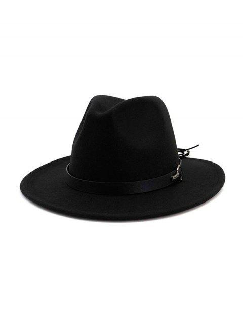 sale Woolen Jazz Fedoras - BLACK  Mobile