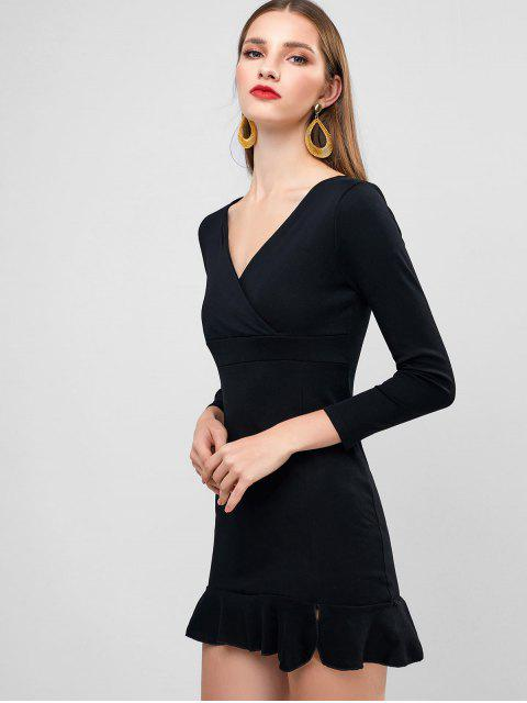 Mini Robe de Soirée Sirène Plongeante - Noir S Mobile