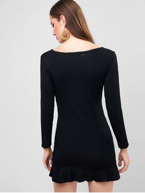 Mini Robe de Soirée Sirène Plongeante - Noir M Mobile