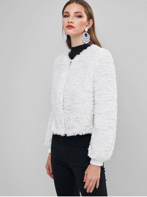 ZAFUL Abrigo Fluffy - Blanco XL Mobile