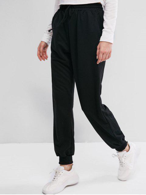 Pantalones Jogger de Cintura Elástica con Cordón - Negro XL Mobile