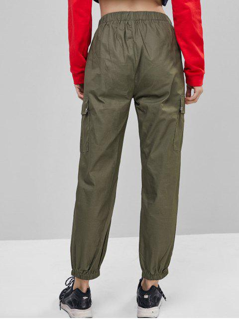 Einfarbige Joggerhose mit Taschen - Tarnanstrich Grün S Mobile