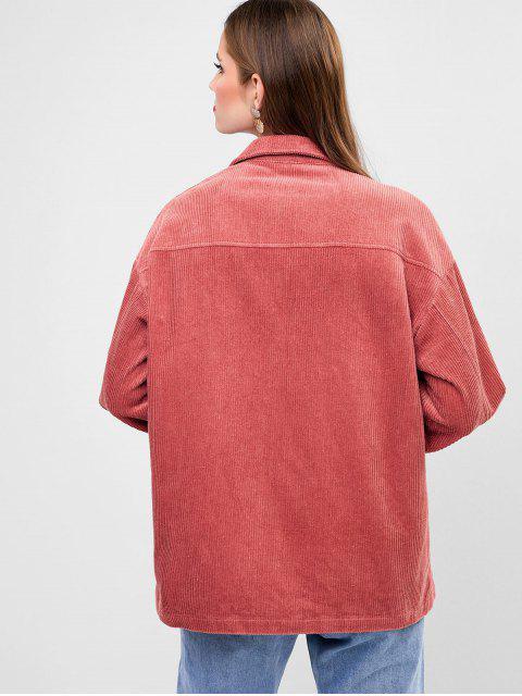ZAFUL Jacke aus Kord mit Druckknopf - Khaki Rose S Mobile