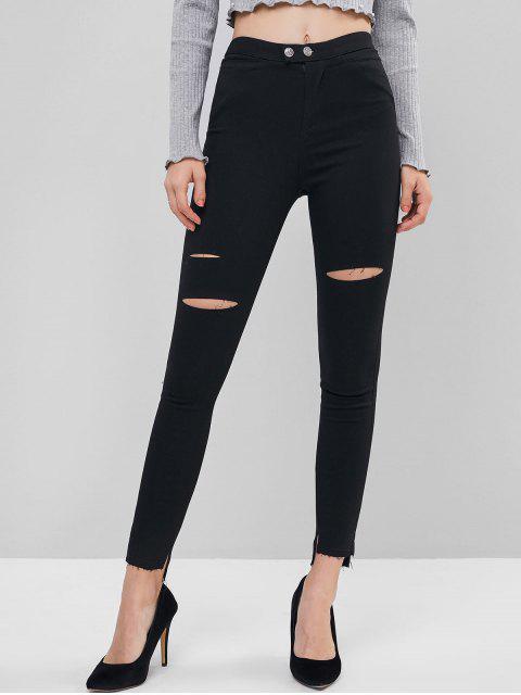 仿舊縫下擺中密度護腿 - 黑色 S Mobile