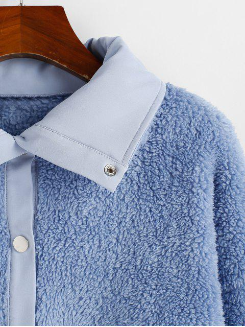ZAFUL落肩固套頭衫泰迪卹 - 藍灰色 XL Mobile