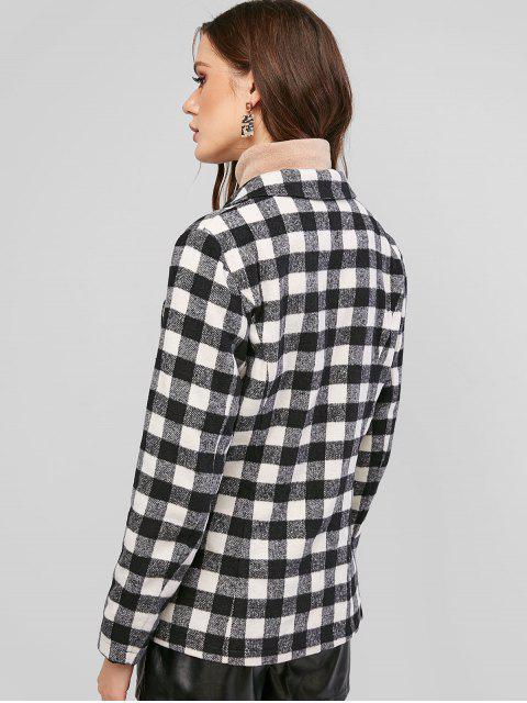 ZAFUL Karierter Wollmischung Taschen Blazer - Multi-A S Mobile