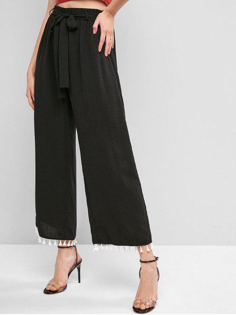 ZAFUL Pantalones Anchos de Pierna Ancha con Cinturón - Negro XL Mobile