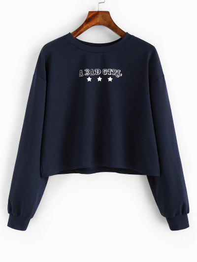 A Bad Girl Graphic Drop Shoulder Sweatshirt