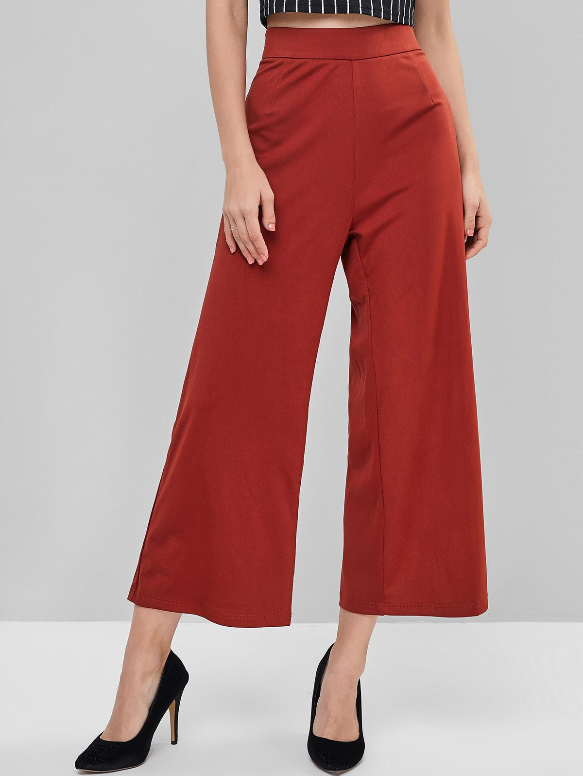 ZAFUL High Waisted Wide Leg Basic Pants