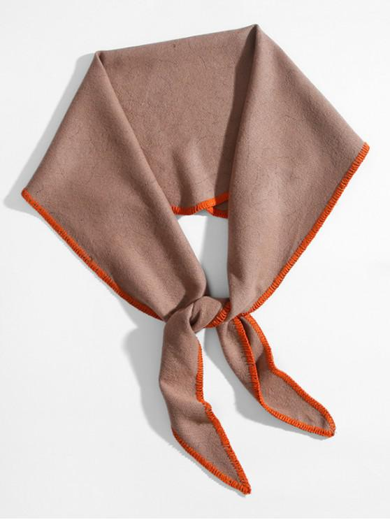 trendy Solid Faux Cashmere Rhombus Scarf - KHAKI