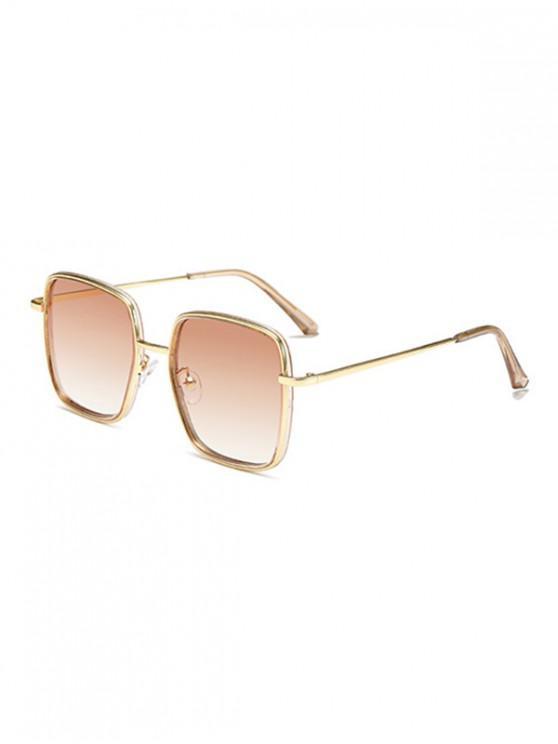 sale Classic Metal Square Sunglasses - APRICOT