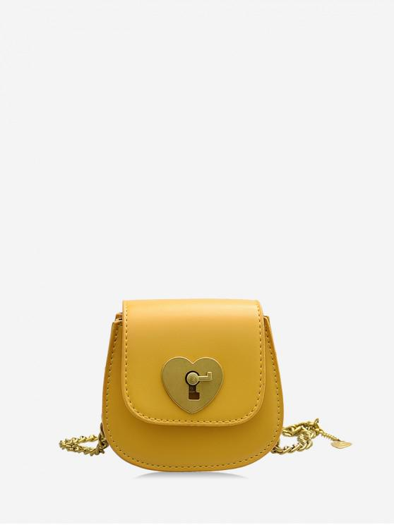 new Chain Heart Key Small Shoulder Bag - YELLOW